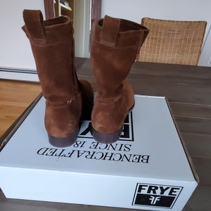 Frye Shoes - Frye Cara Suede Low Boots